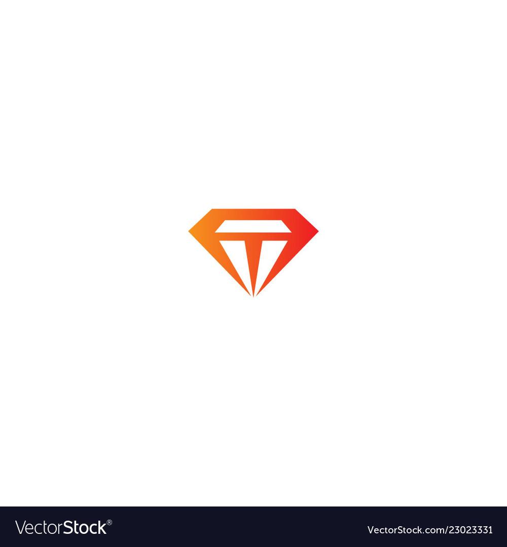 Diamond shape fashion logo