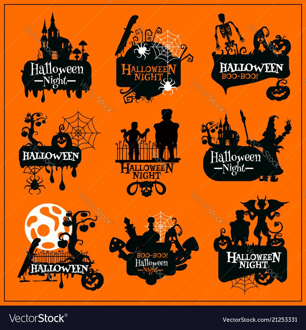 Halloween holiday horror monster symbol design