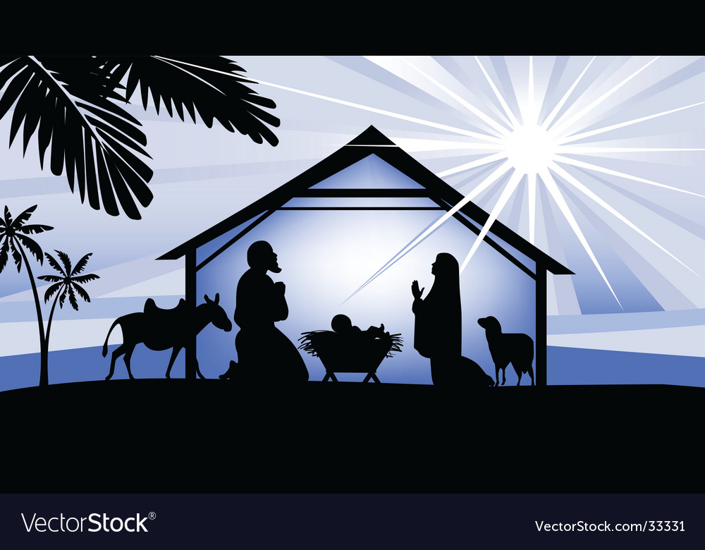 Holy night way to bethlehem vector image