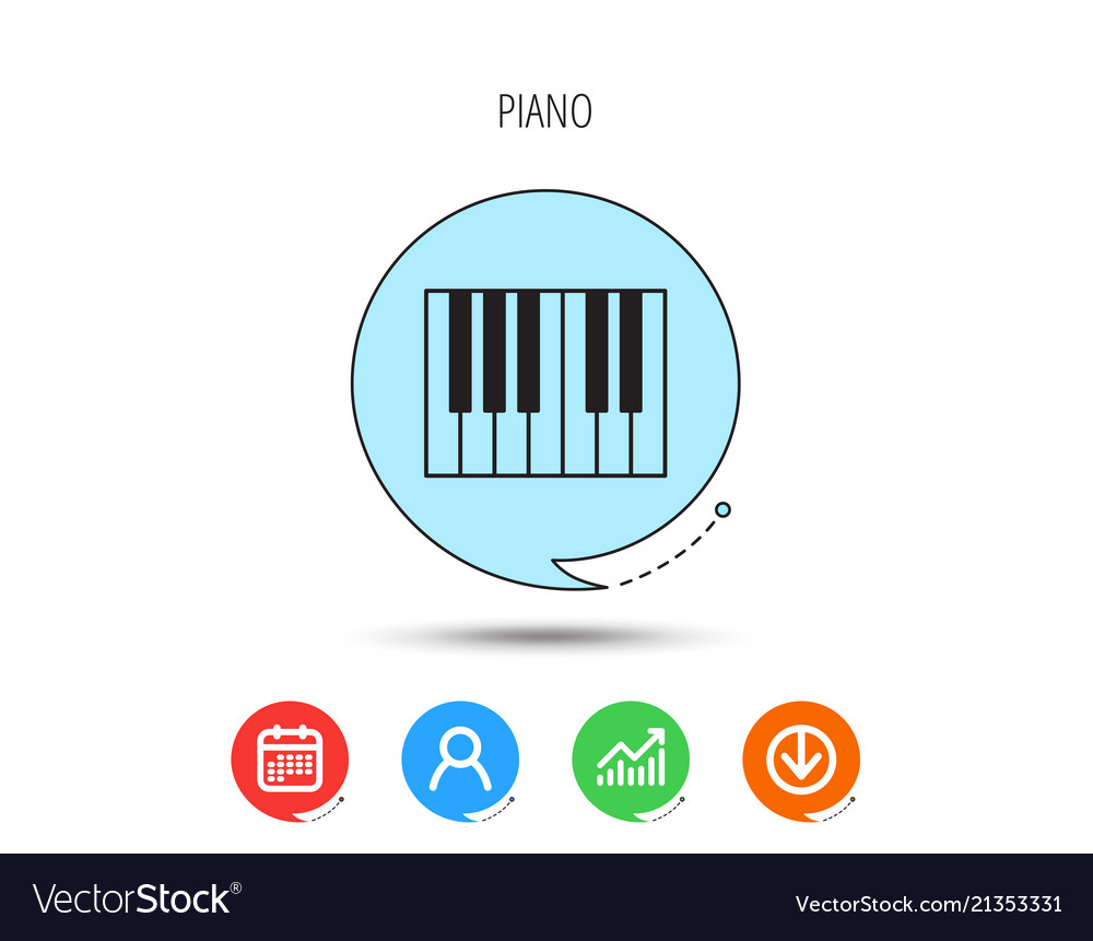 Piano icon royal musical instrument sign