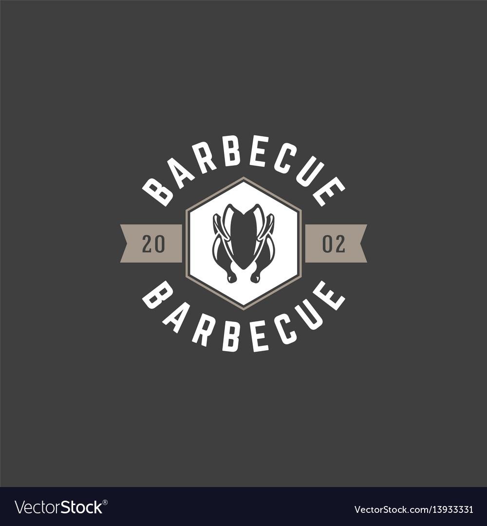 Restaurant logo template object