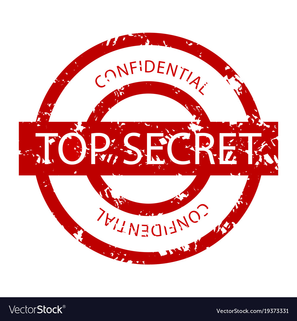 Top secret confidential rubber stamp vector image