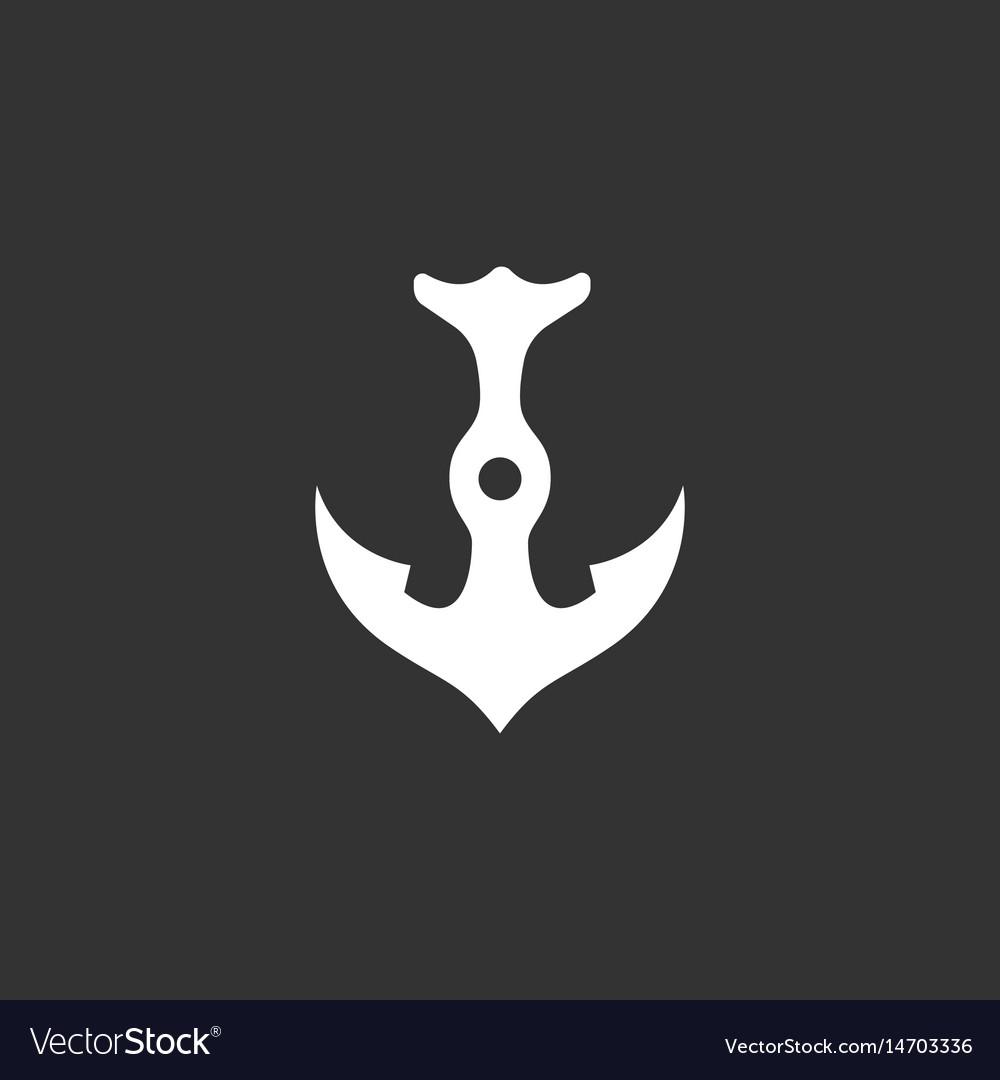 Anchor logo icon on black background