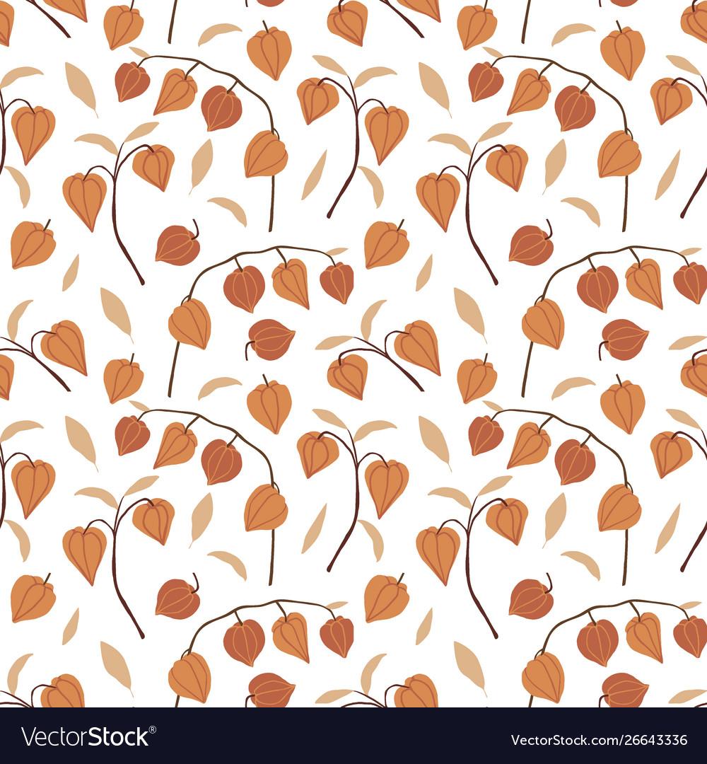 Beautiful hand drawn floral seamless pattern