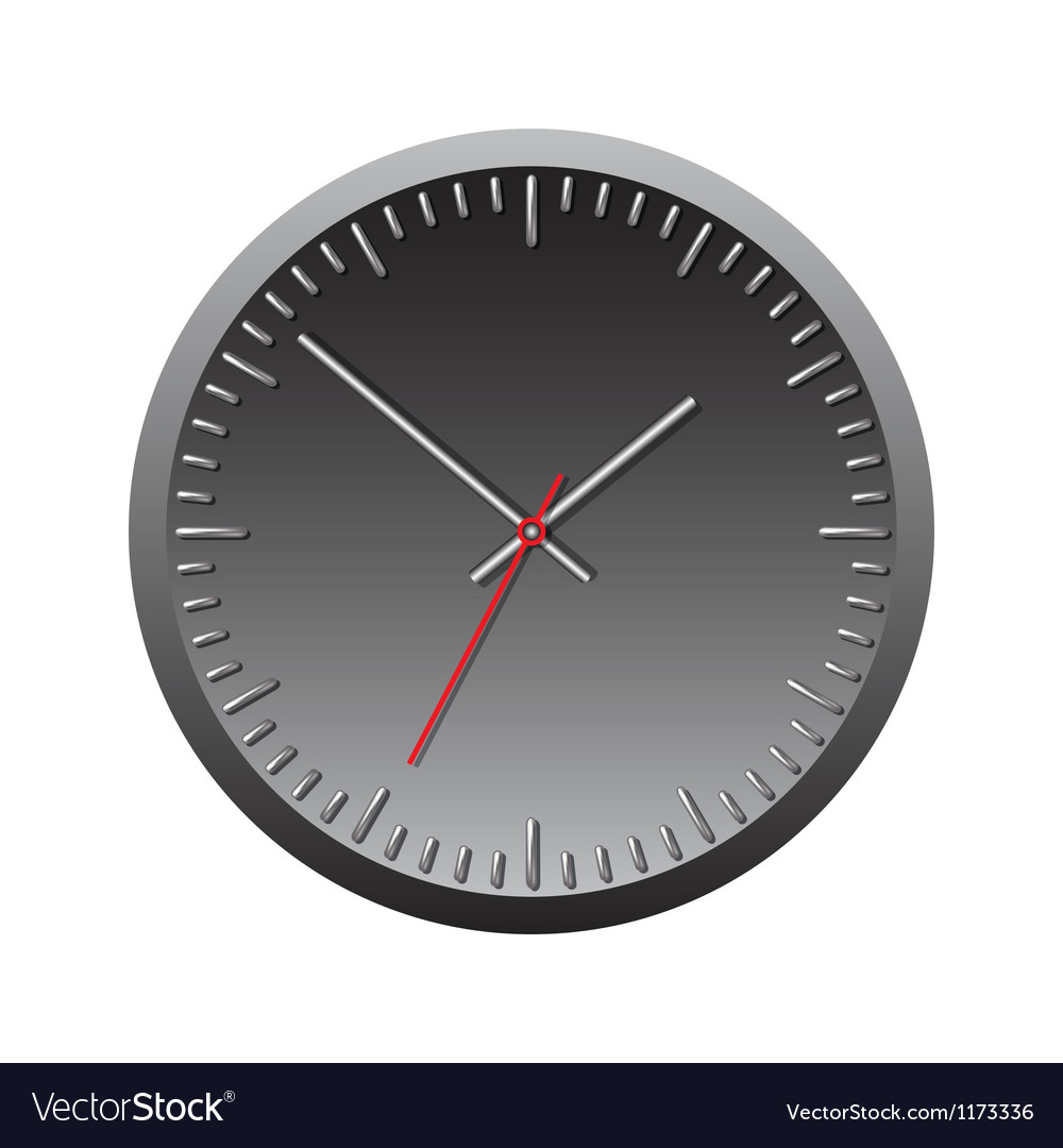 Black wall mechanical clock