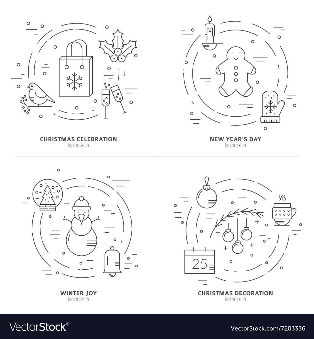 Christmas concept art vector image