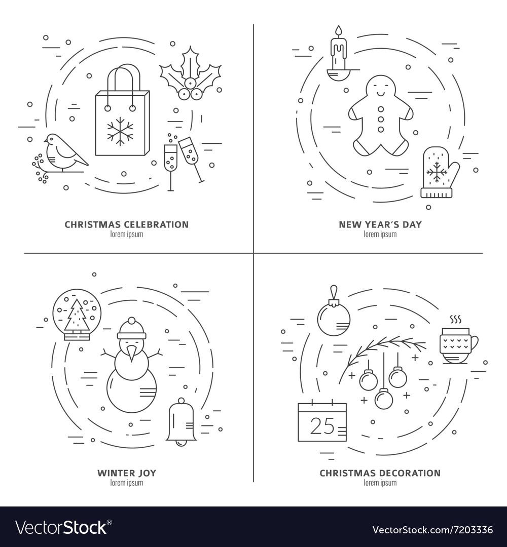 Christmas Concept Art Royalty Free Vector Image