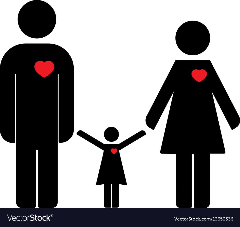 Family icon flat design vector image