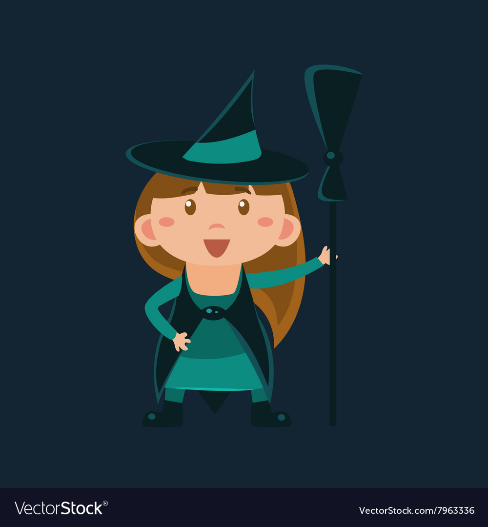 Girl In Wizard Of Oz Witch Haloween Disguise