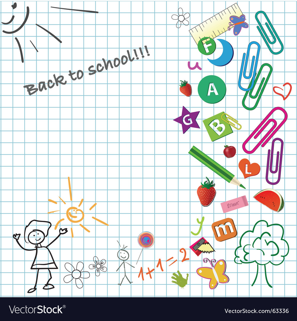 Kid notepad vector image