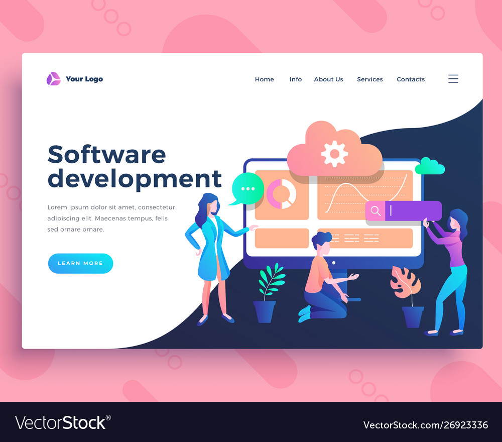 Landing page template software development testing