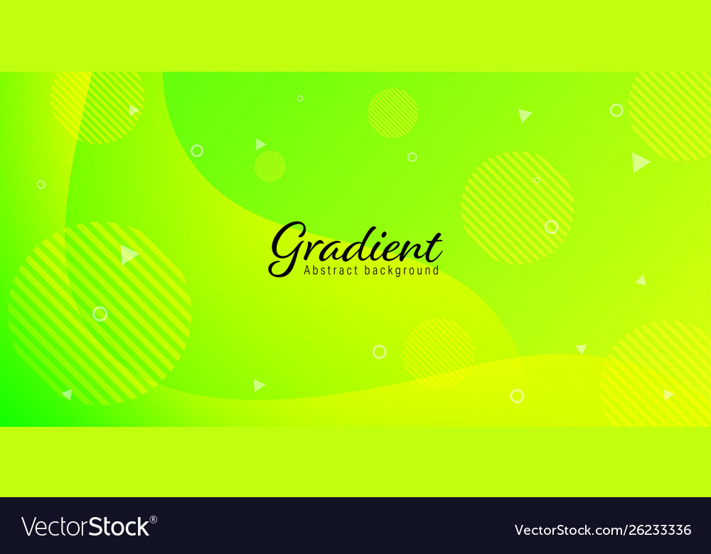 Modern Neon Green Yellow Bright Abstract