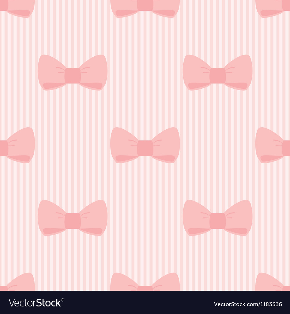 Seamless pattern with bows on pink background