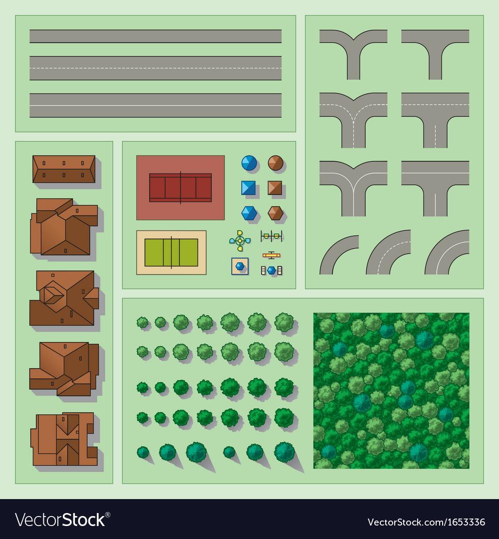 Set of map elements