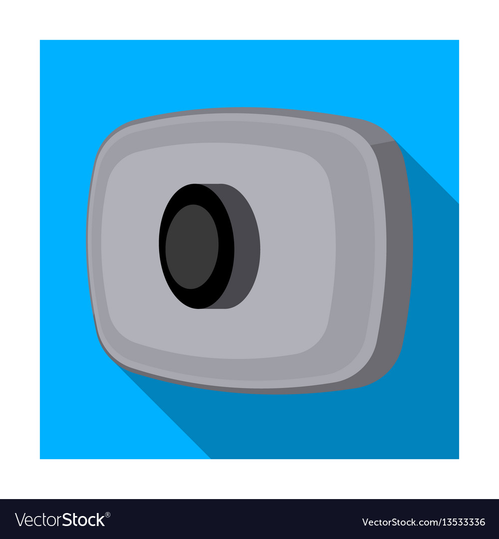 Webcam icon in flat style isolated on white vector image