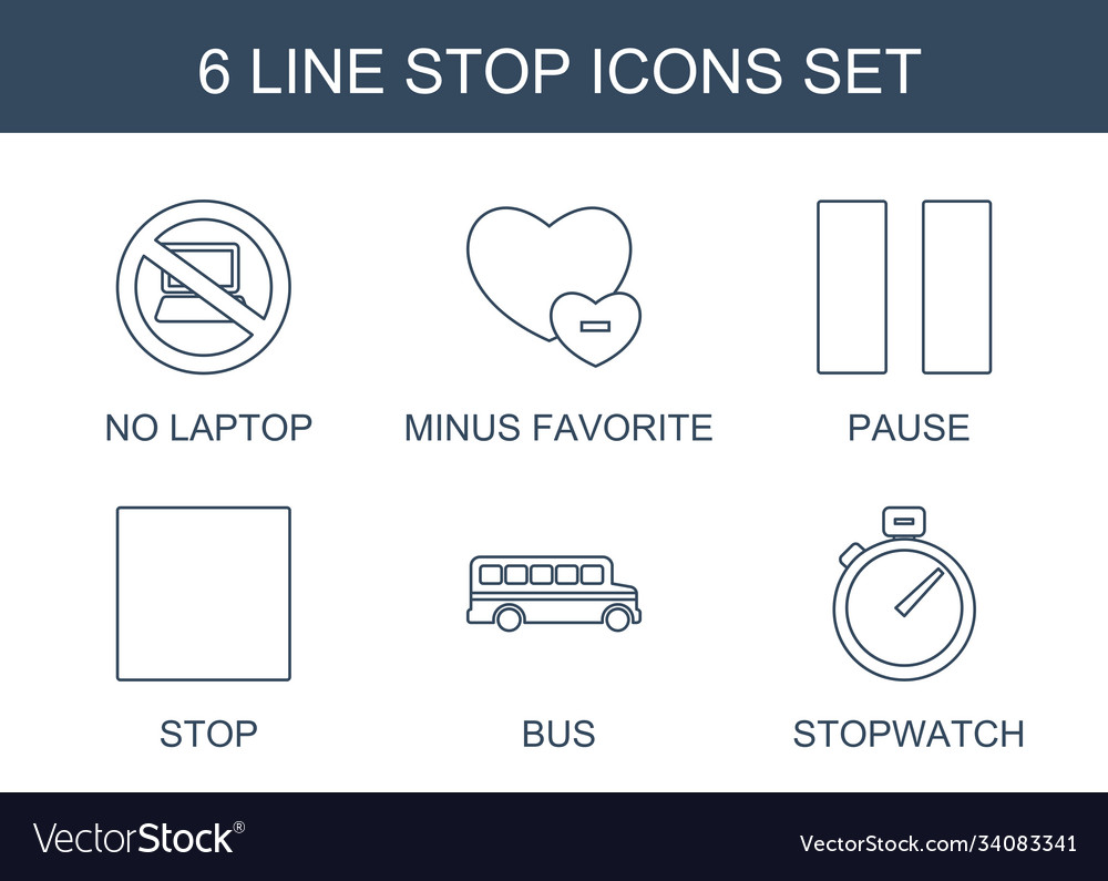 6 stop icons