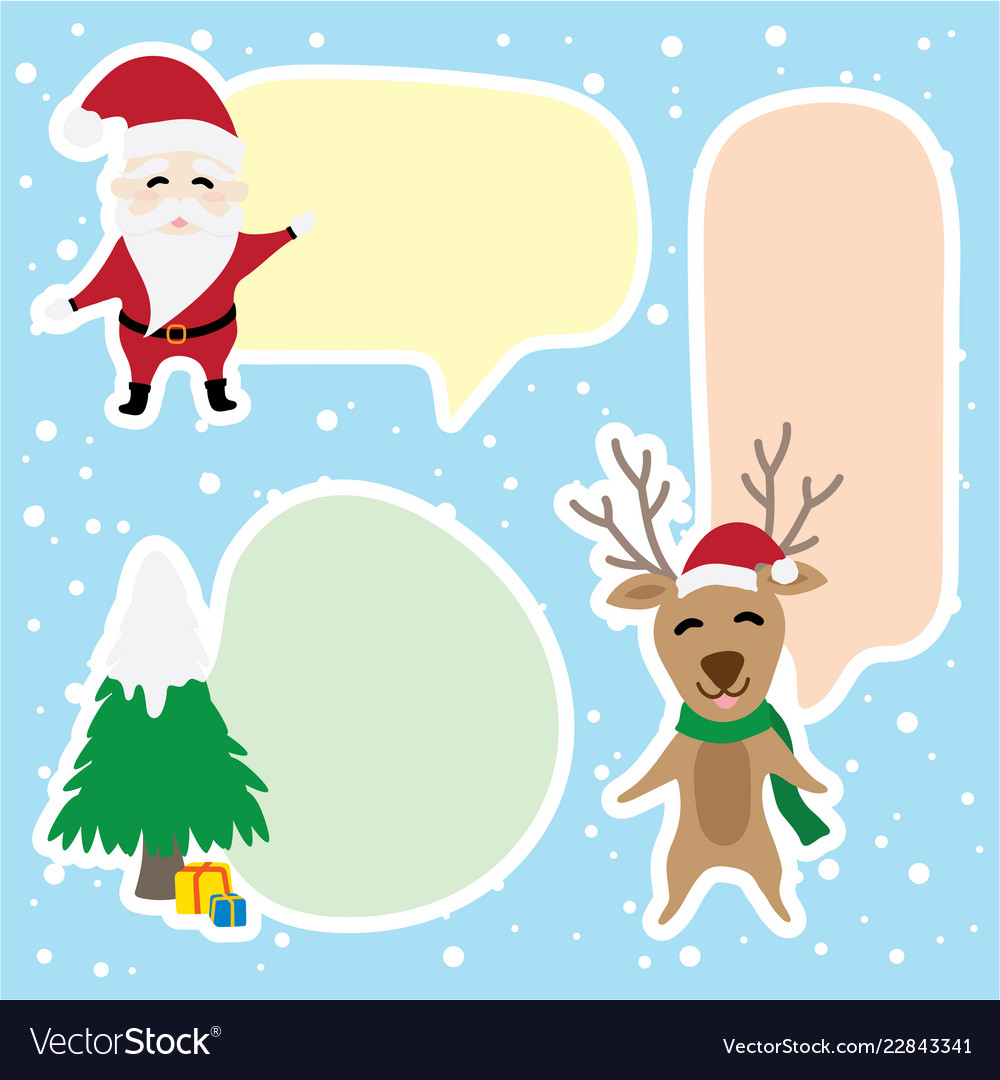 Border graphic cartoon about christmas