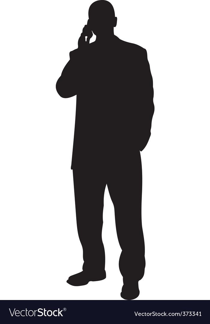 standing businessman silhouette cartoon royalty free - 700×1080