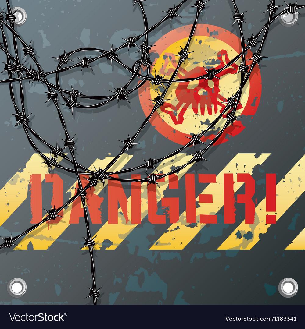Danger sign vector image