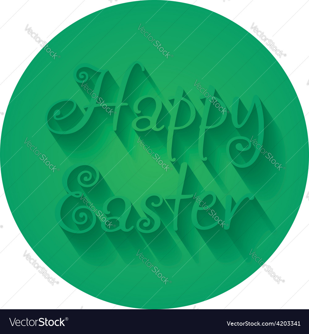Happy Easter Hand lettering Typographical Greeting