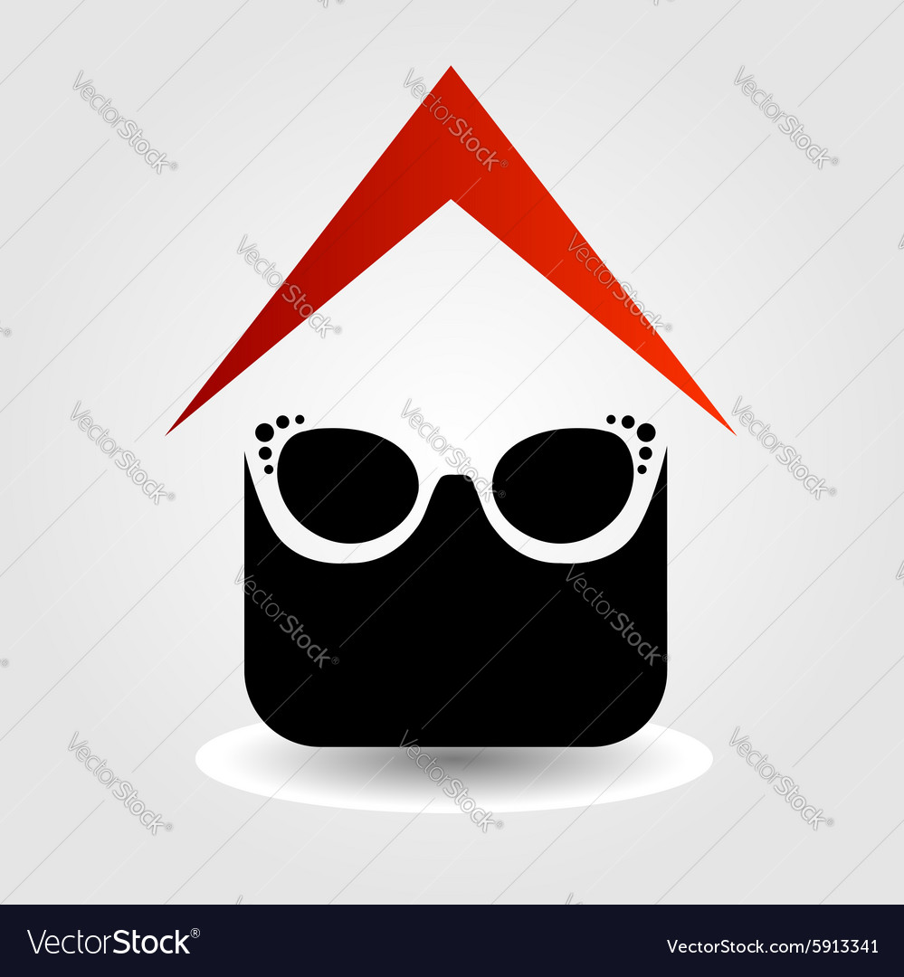Logo for eyewear shop vector image