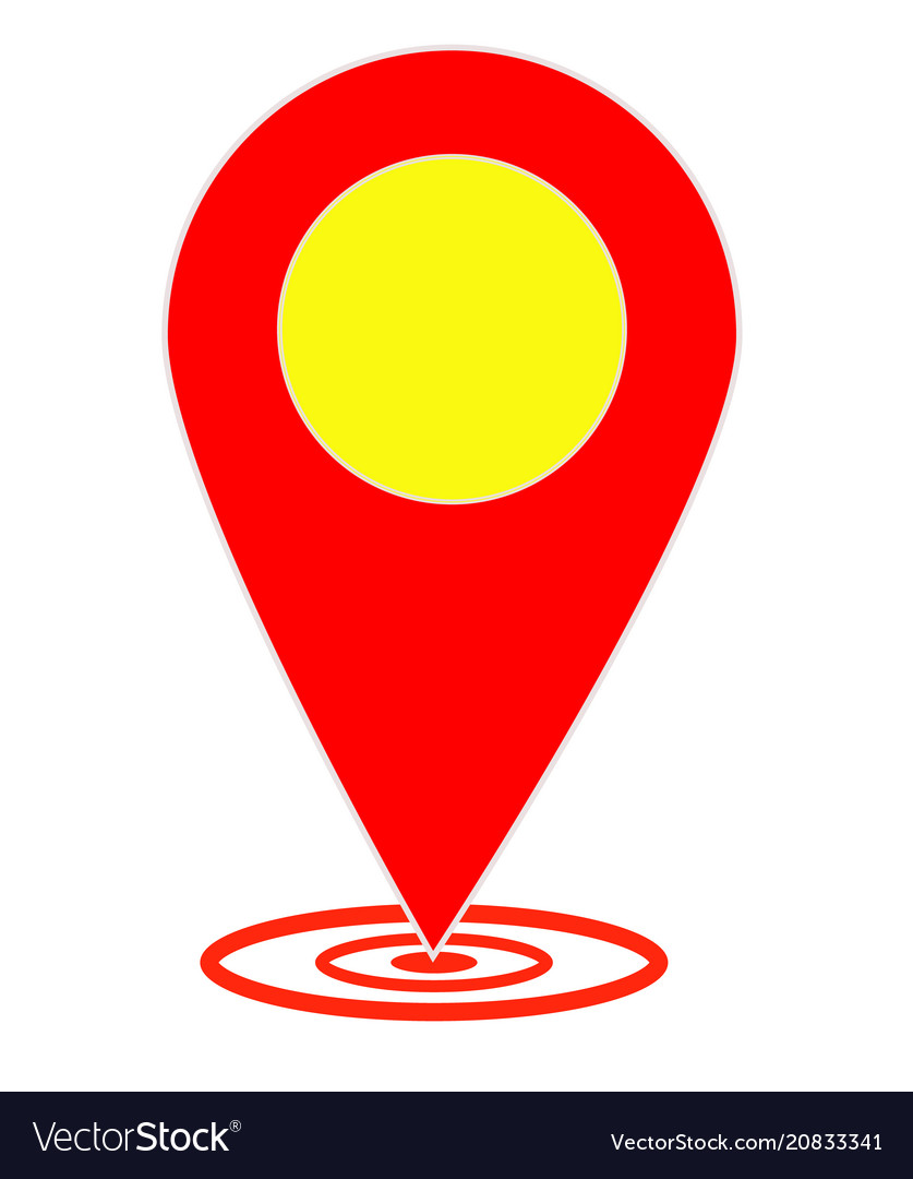 Map pointer on white background flat style map