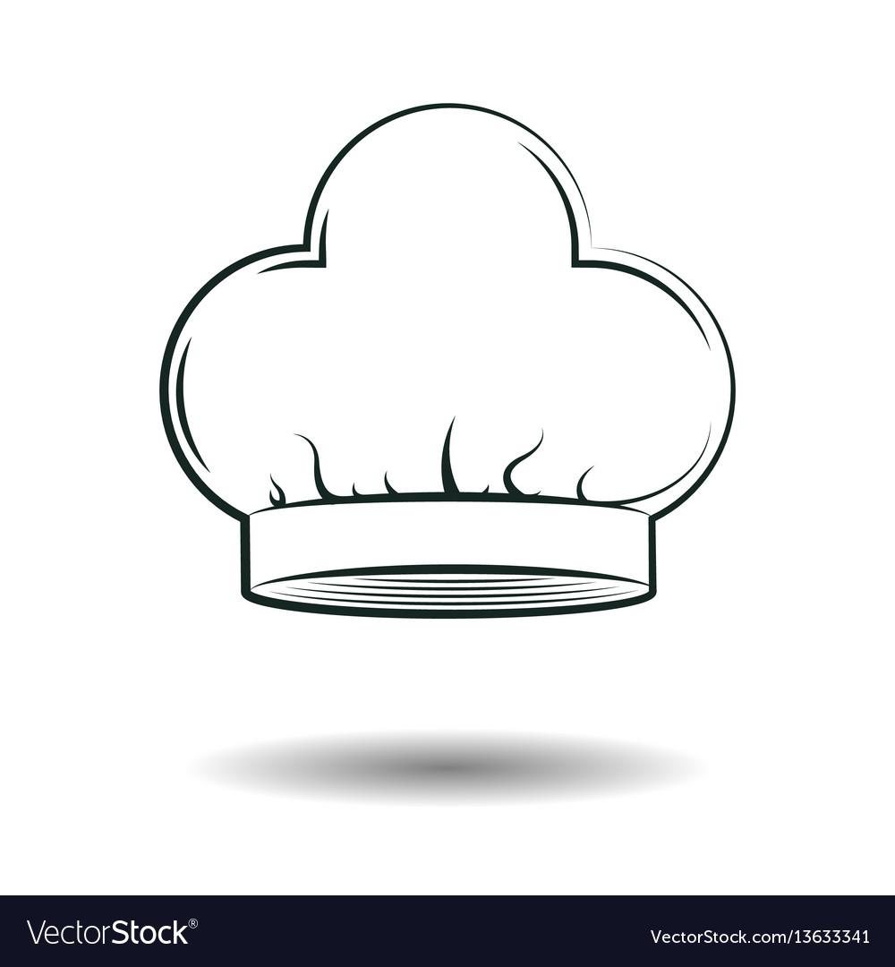 Monochrome chef hat sign