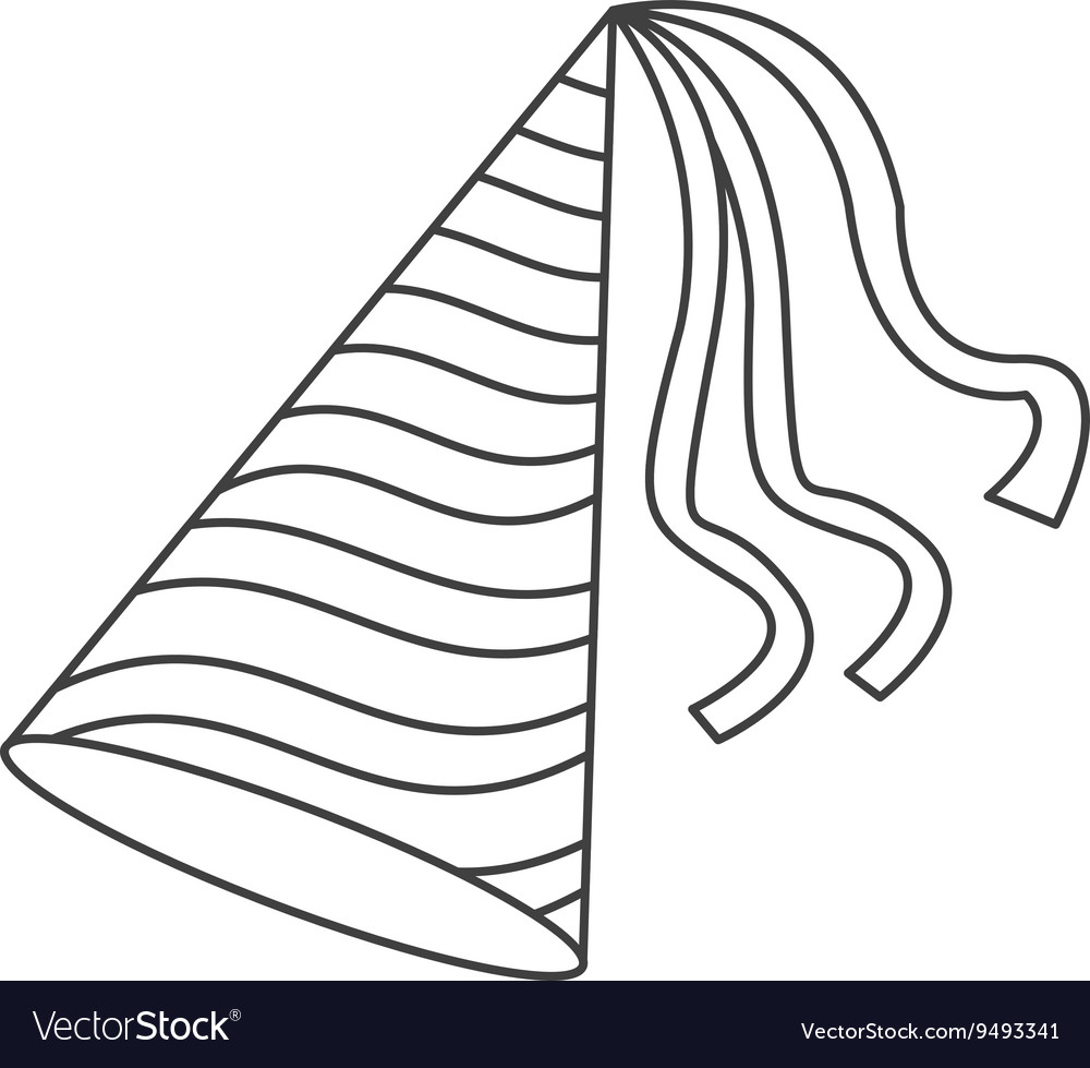 Party hat icon Royalty Free Vector Image - VectorStock for Party Hat Clipart Black And White  28cpg