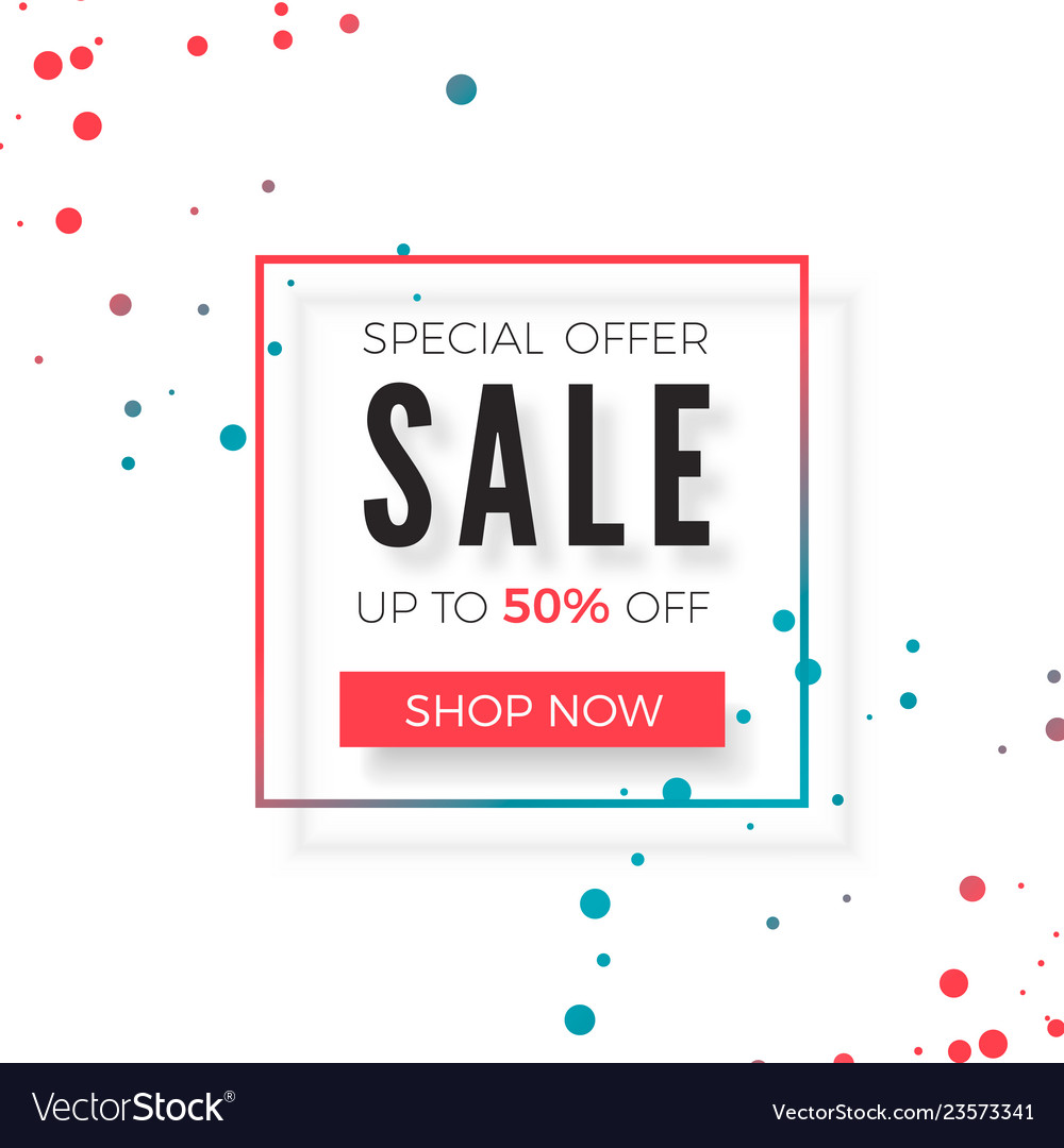 Sale special offer advertising promo banner