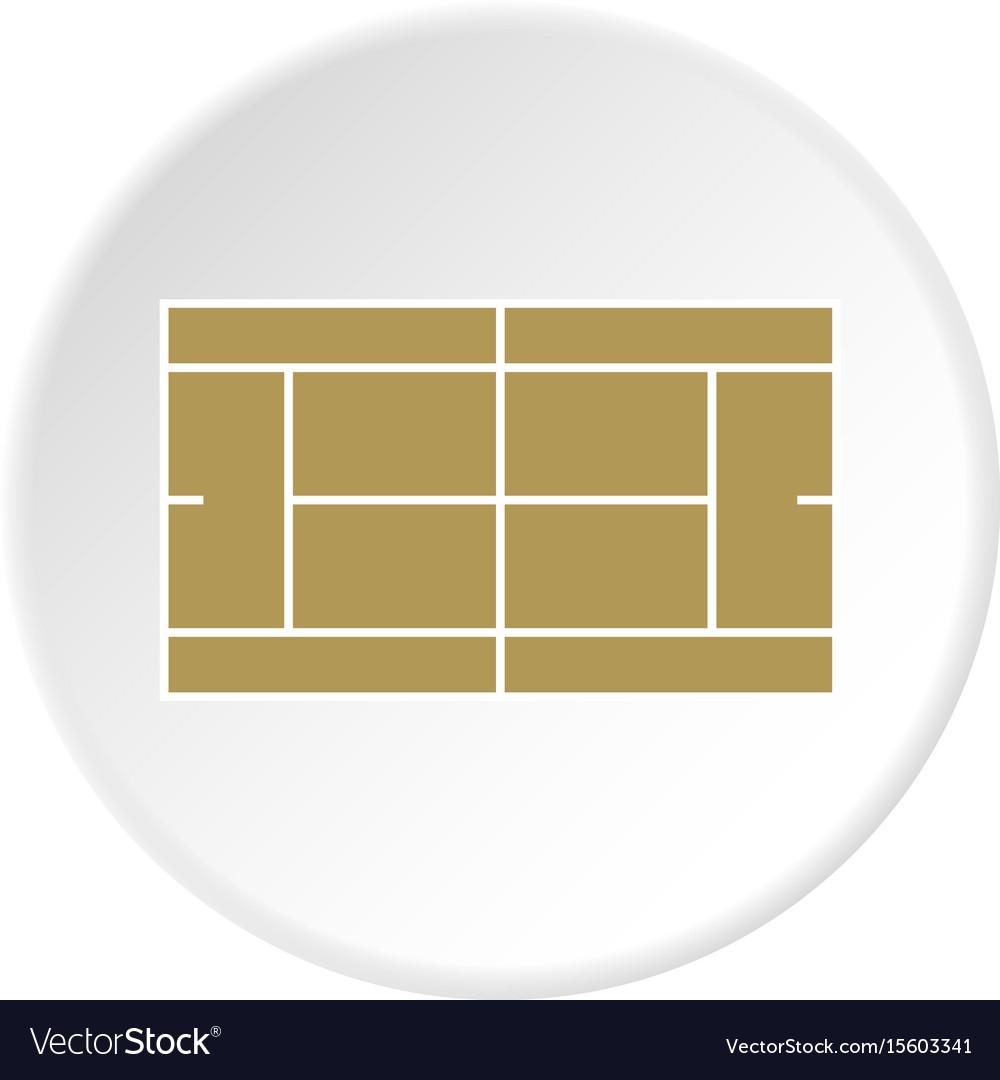 Tennis court icon circle