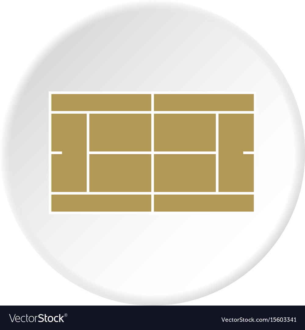 Tennis court icon circle vector image
