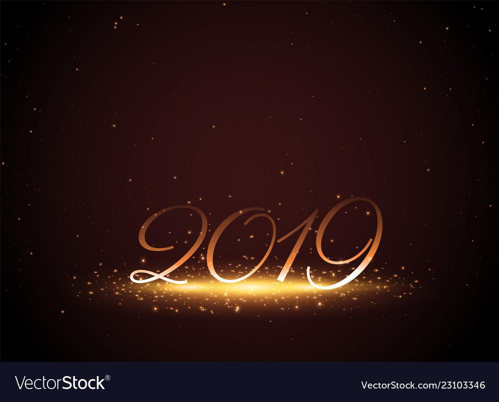 2019 shiny glowing new year celebration background vector image