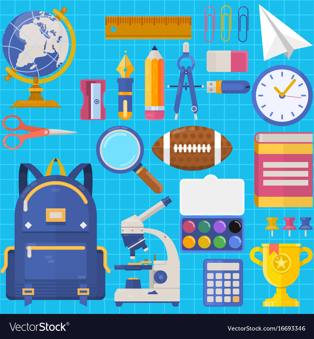 Back to school bag pupil or student training