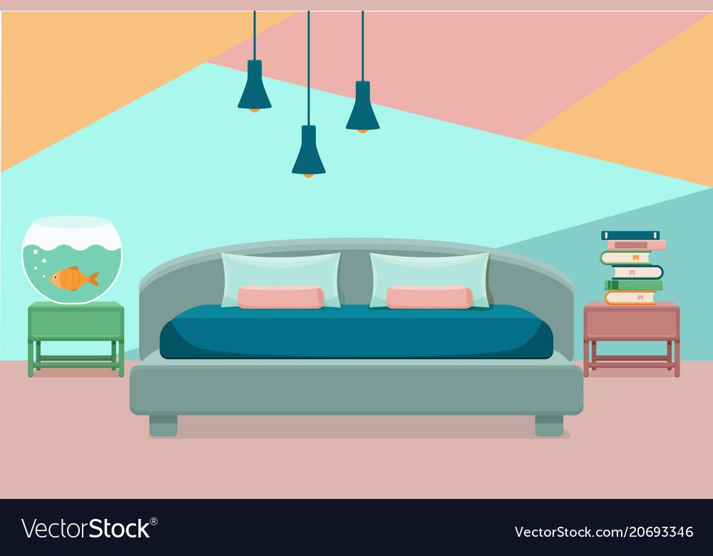 Bedroom interior colorful