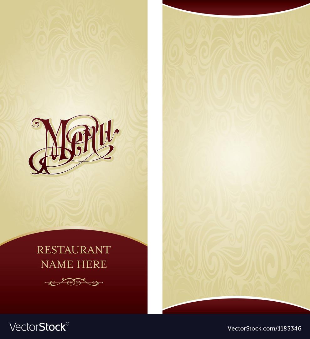 menu design template royalty free vector image