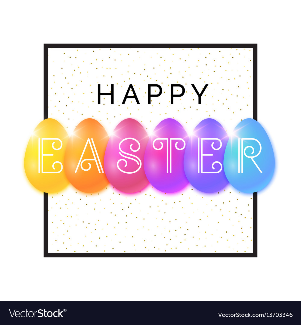 Modern background and poster happy easter