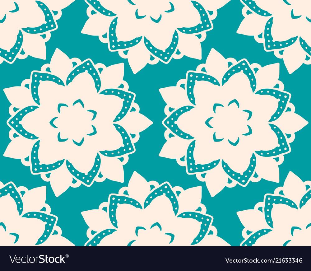 Seamless pattern with mandala