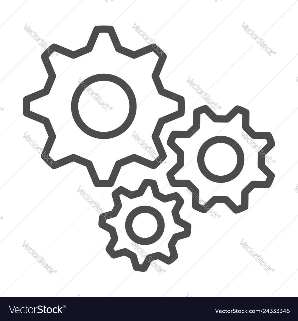 Settings outline icon flat design style 10