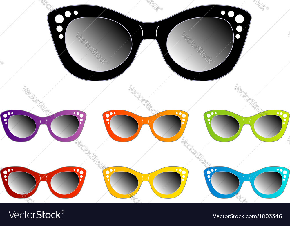 6fb8b52f5e1 Vintage cat eye eyewear for ladies Royalty Free Vector Image