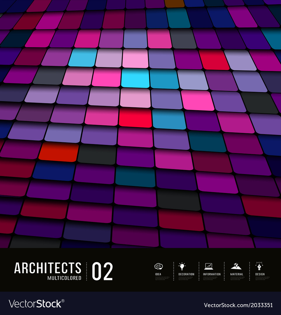 Abstract multicolored tiles materials purple