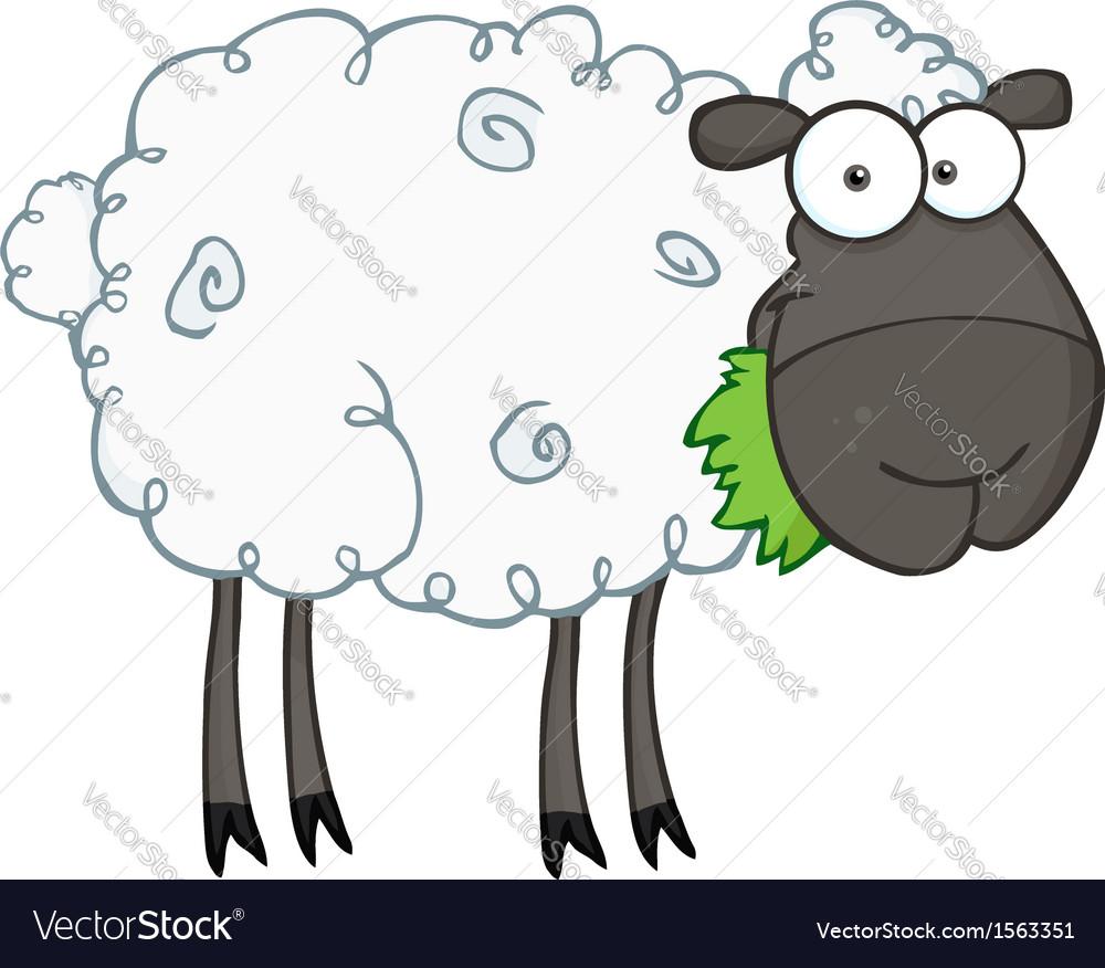 cartoon sheep royalty free vector image vectorstock rh vectorstock com sheep free vector sheep vector silhouette