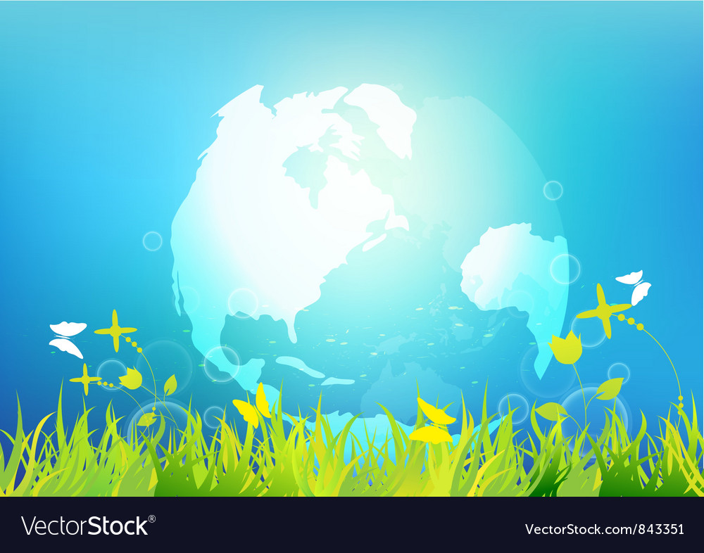 Clean and fresh world vector image