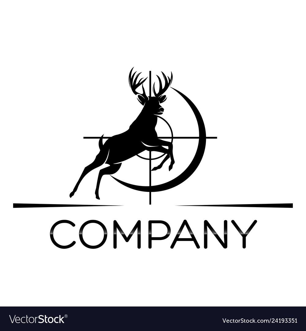 deer hunting logo royalty free vector image