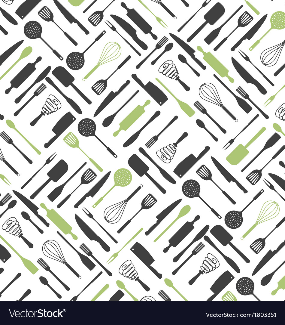 Kitchen Tools Pattern vector image