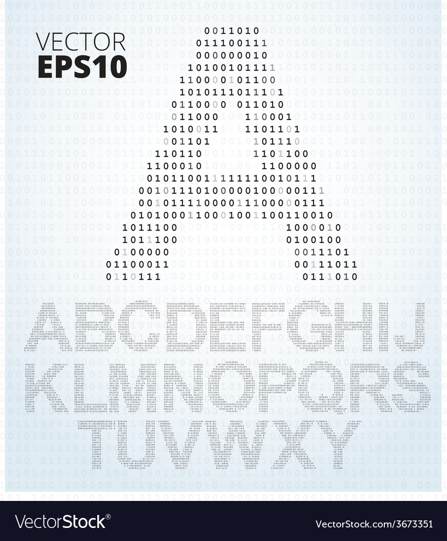 letter a z alphabet from binary code royalty free vector