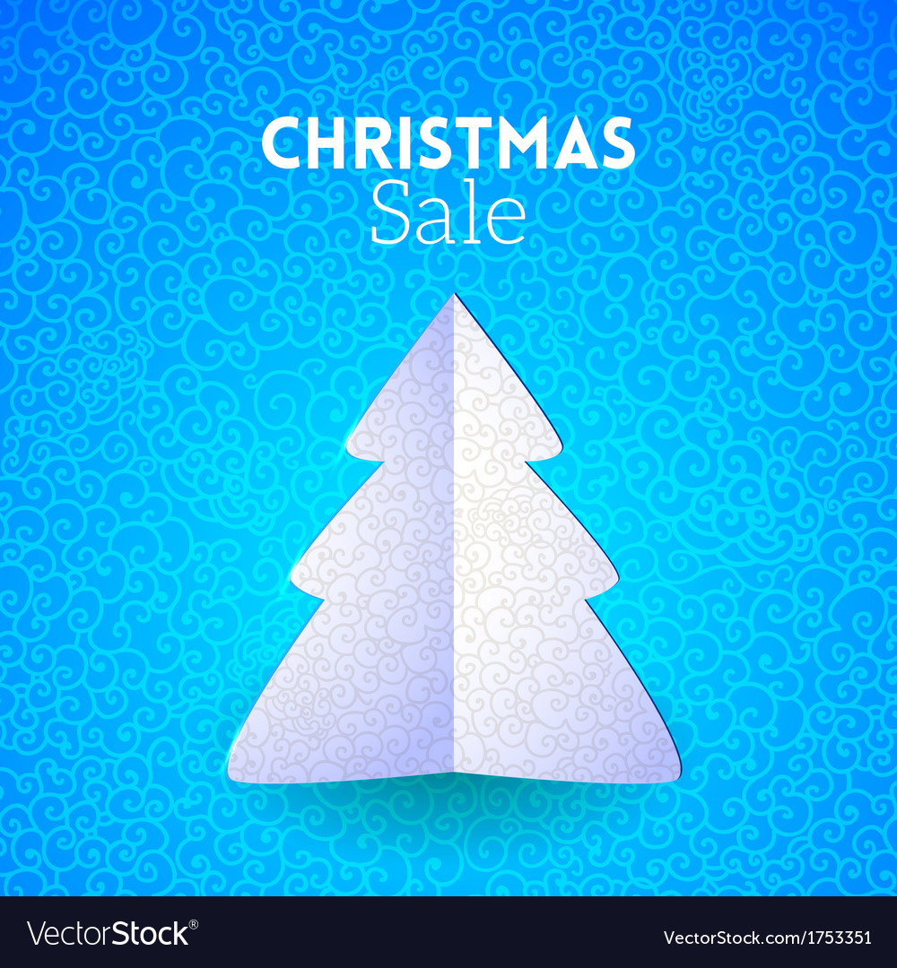 Merry Christmas doodle seamless pattern fir tree