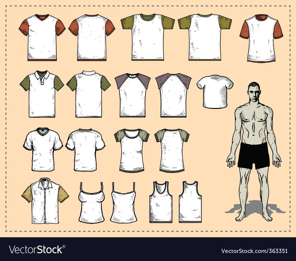 T-shirt vector vector image