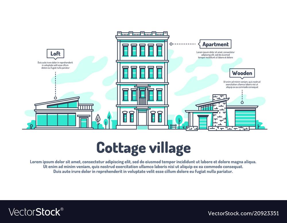Urban buildings property housing real estate