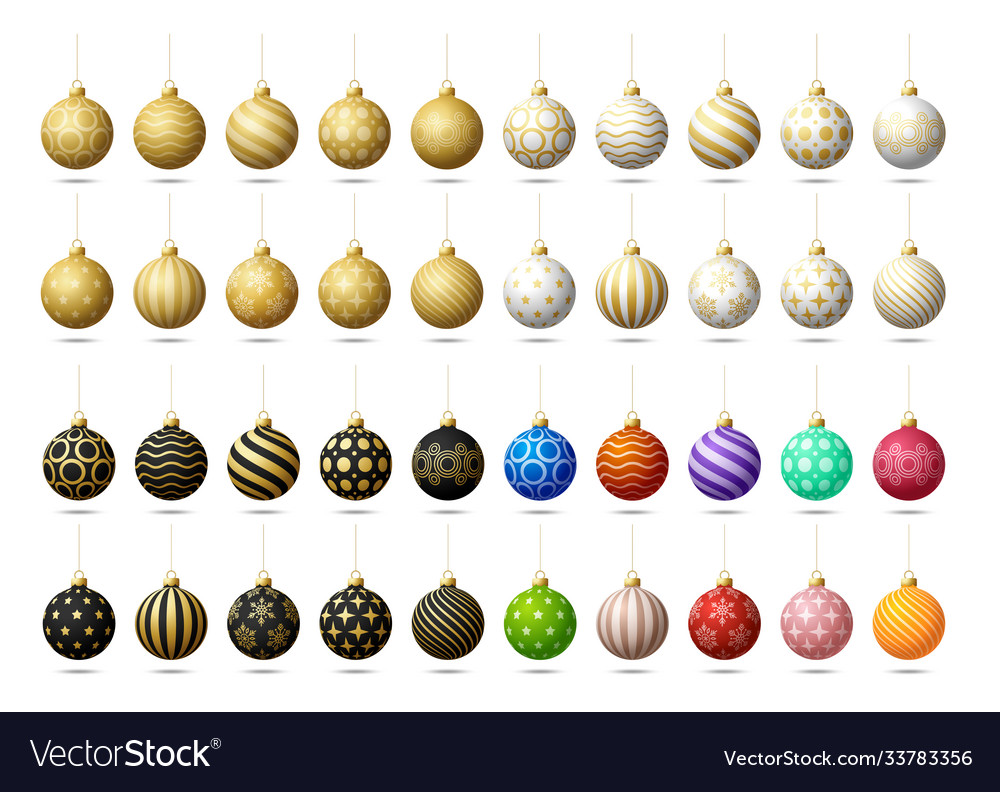 Christmas tree toy or balls mega collection set
