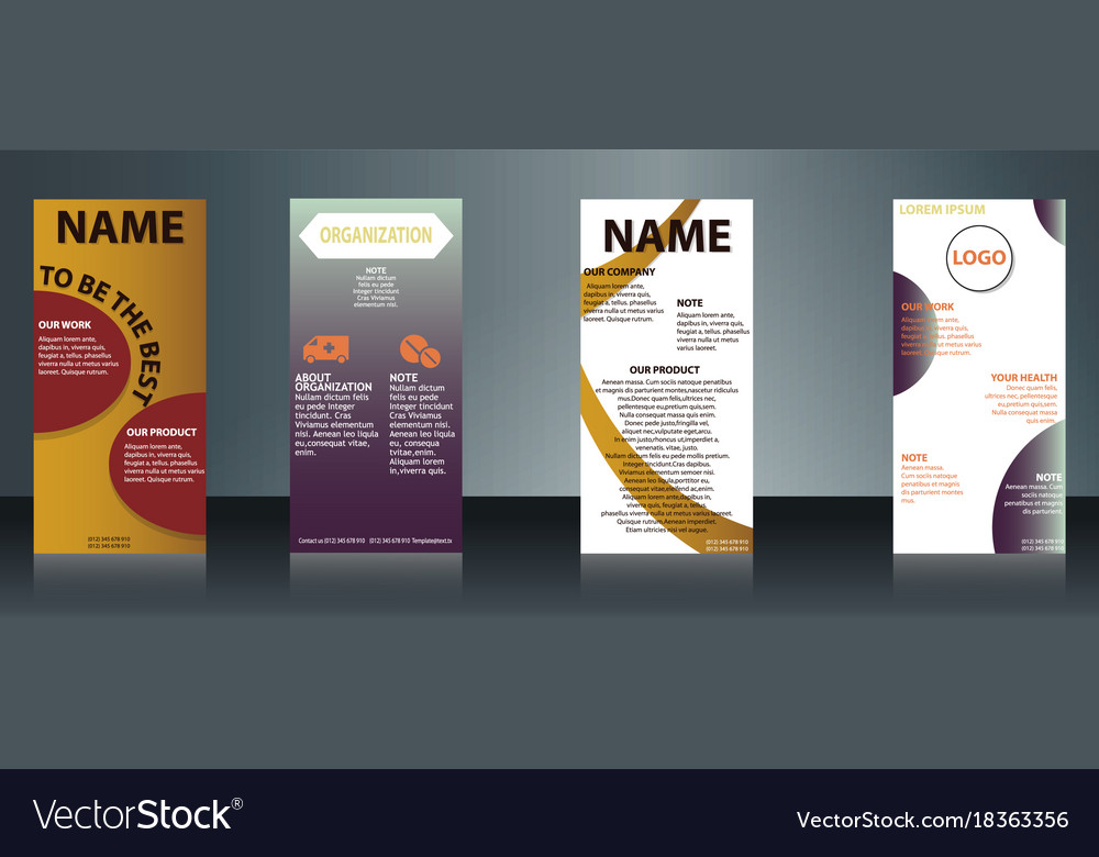 collection of health and medical flyers and vector image